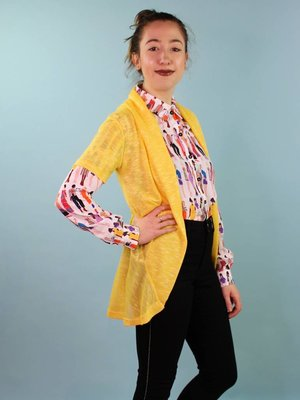 Sarah Bibb Camellia Sweater - Lemon