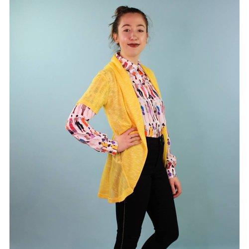 Sarah Bibb Camellia Sweater - Lemon