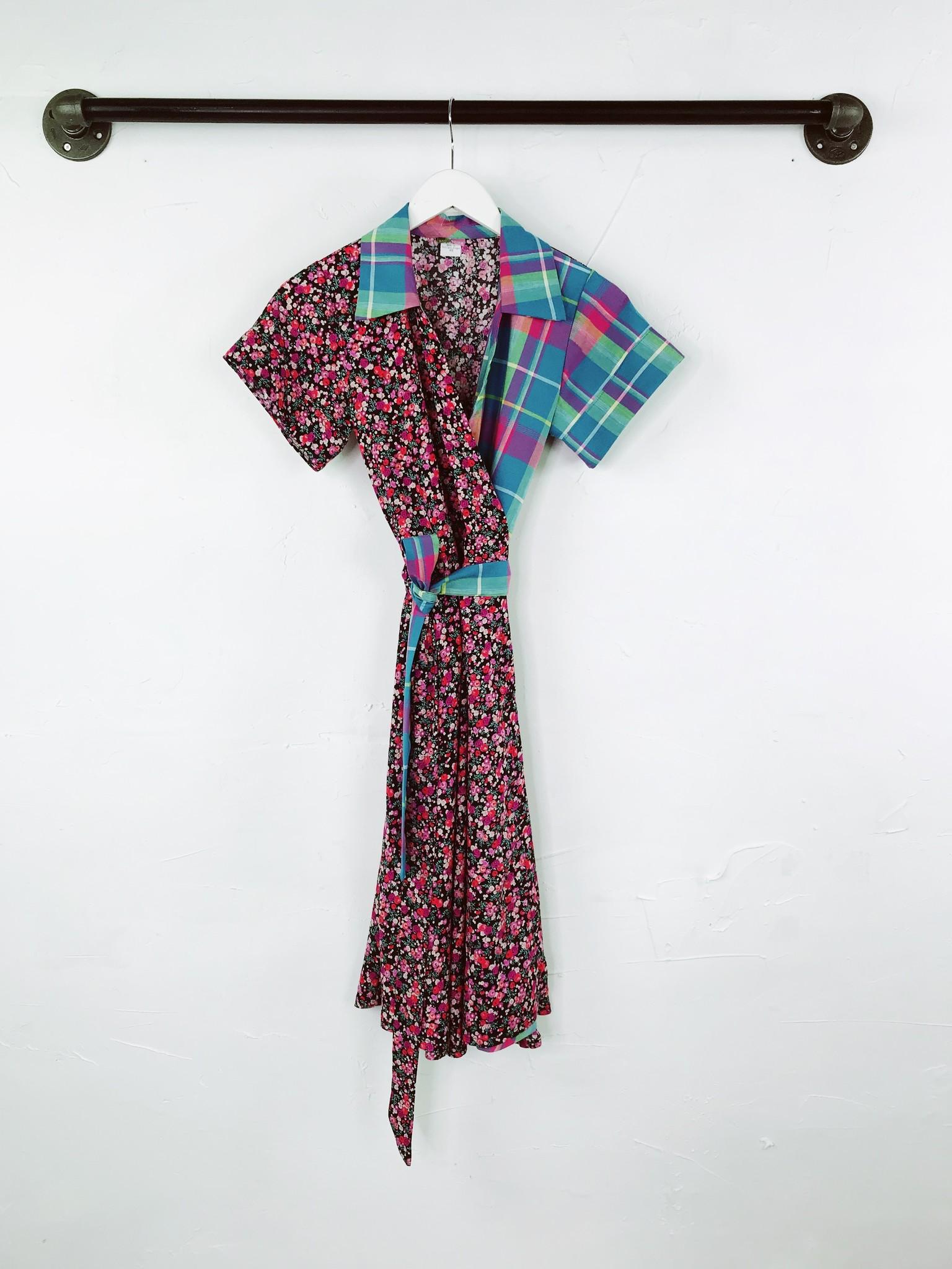 Sarah Bibb Tootie Wrap Dress - Madras/Scape