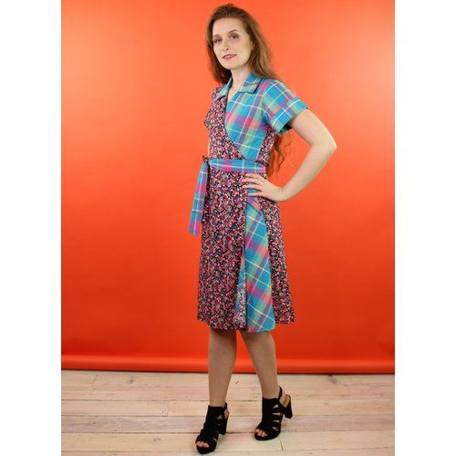 Sarah Bibb Tootie Wrap Dress - Madras/Scape