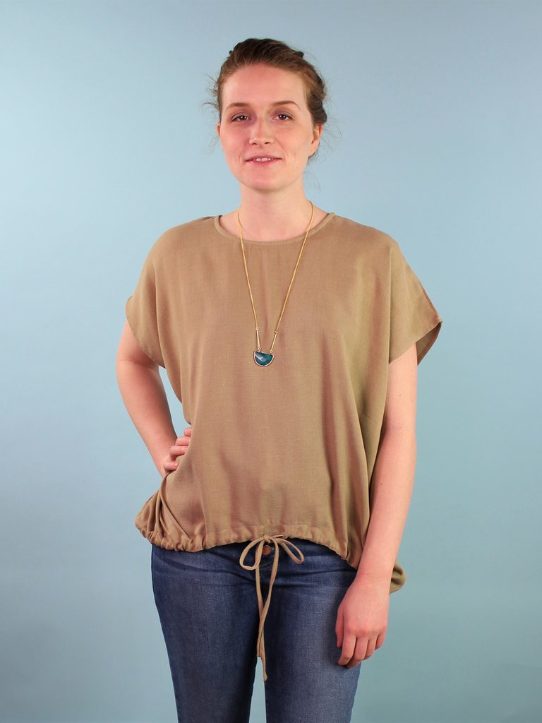 Six Crisp Days Vari Top - Khaki