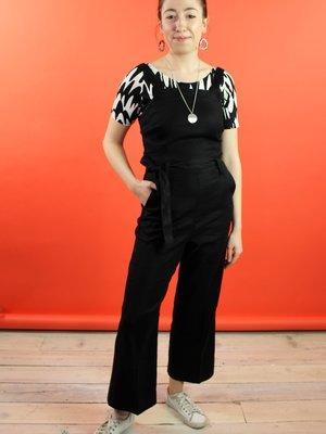 Level 99 Delia Linen Jumper - Black