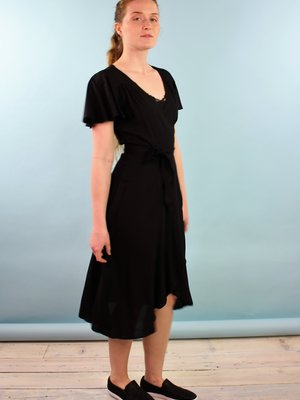 Cameo Ginny Wrap Dress - Onyx