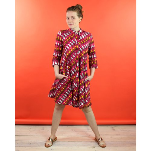 Zuri Shirt Dress - Disco