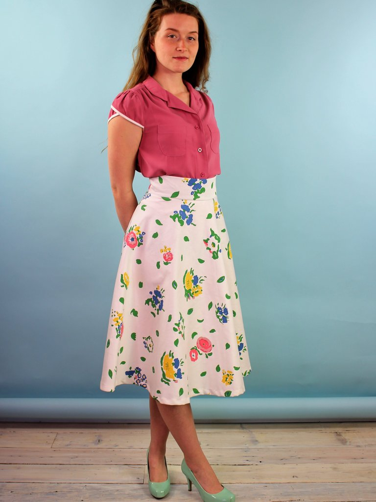 Sarah Bibb Zoe Circle Skirt - Vin Floral