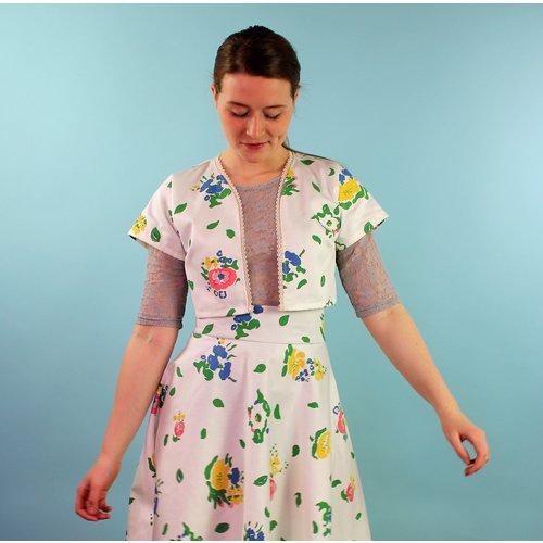Sarah Bibb DeDe Cropped Jacket - Vin Floral