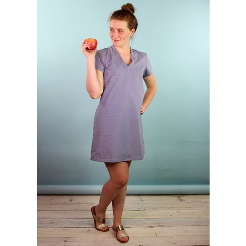 Sarah Bibb Kimmy V-Dress - Check