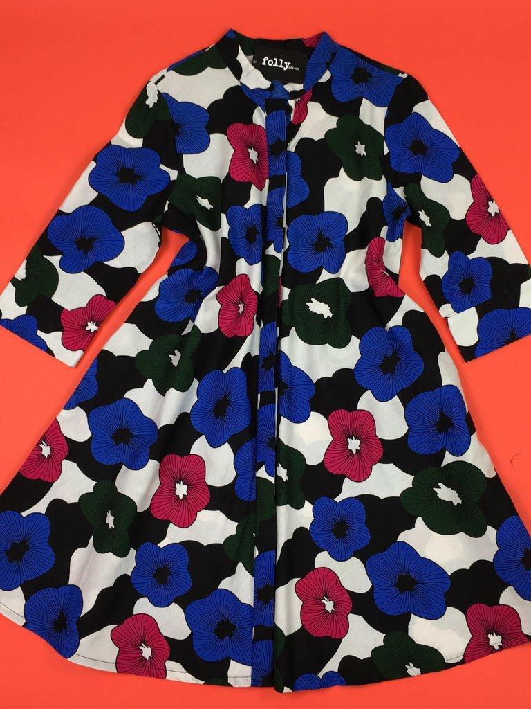 Zuri Shirt Dress - Hibiscus