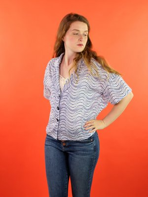 Sarah Bibb Owen Top - Wavy Dot