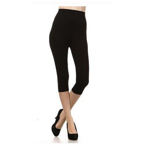 M Rena Tummy Tuck Cropped Leggings  - Black