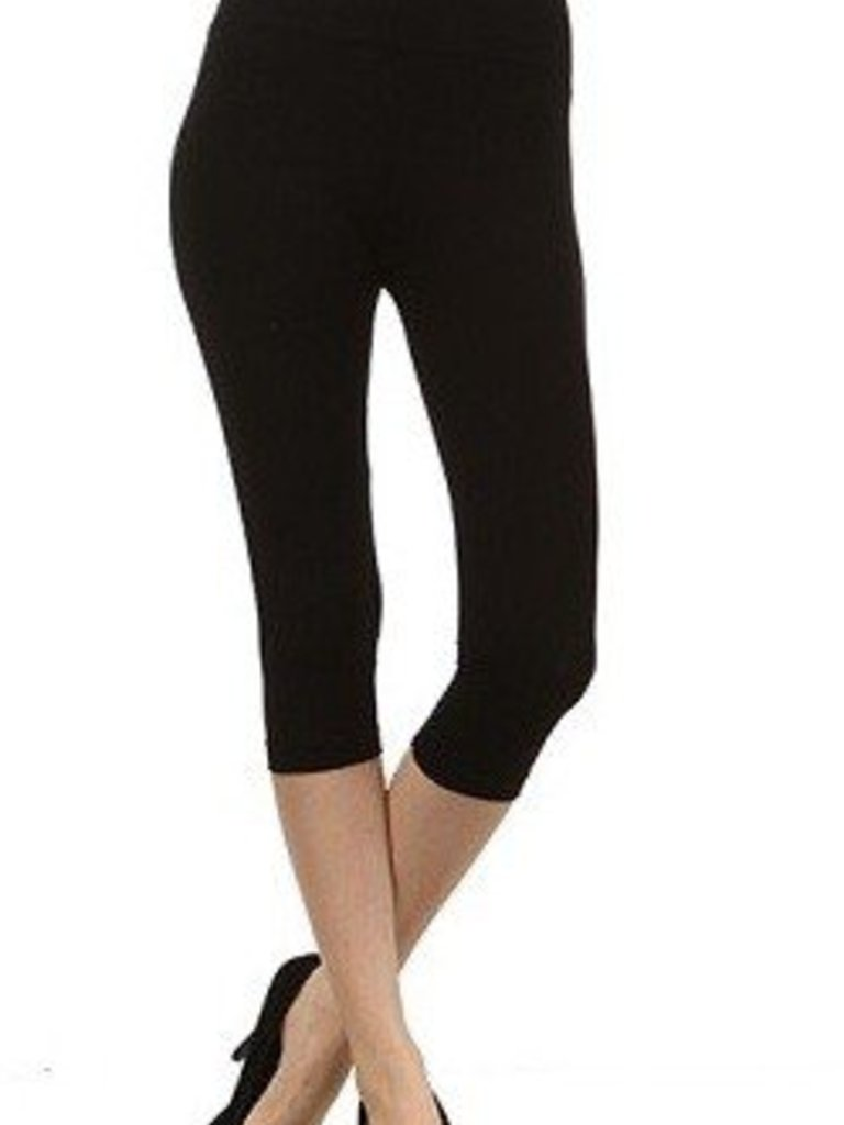 M Rena Tummy Tuck Cropped Leggings  - Black