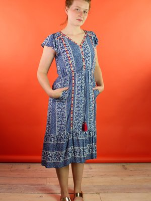 Gyra Dress - Indigo