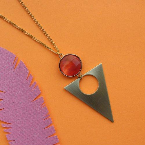 Nicole Weldon Cherry Quartz Necklace