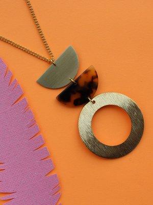 Nicole Weldon Leo Circle Necklace