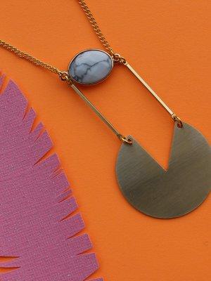Nicole Weldon Howl Slice Necklace
