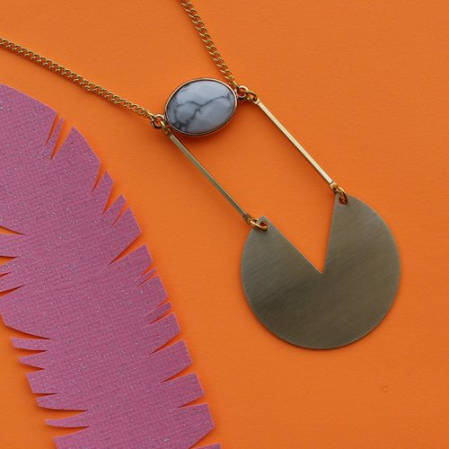 Nicole Weldon Howl Slice Necklace