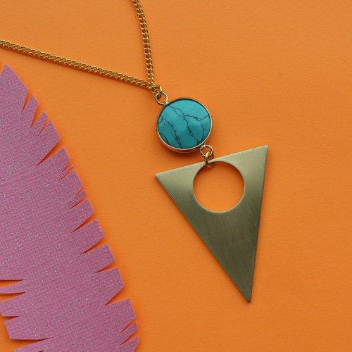 Nicole Weldon Howlite Triangle Necklace