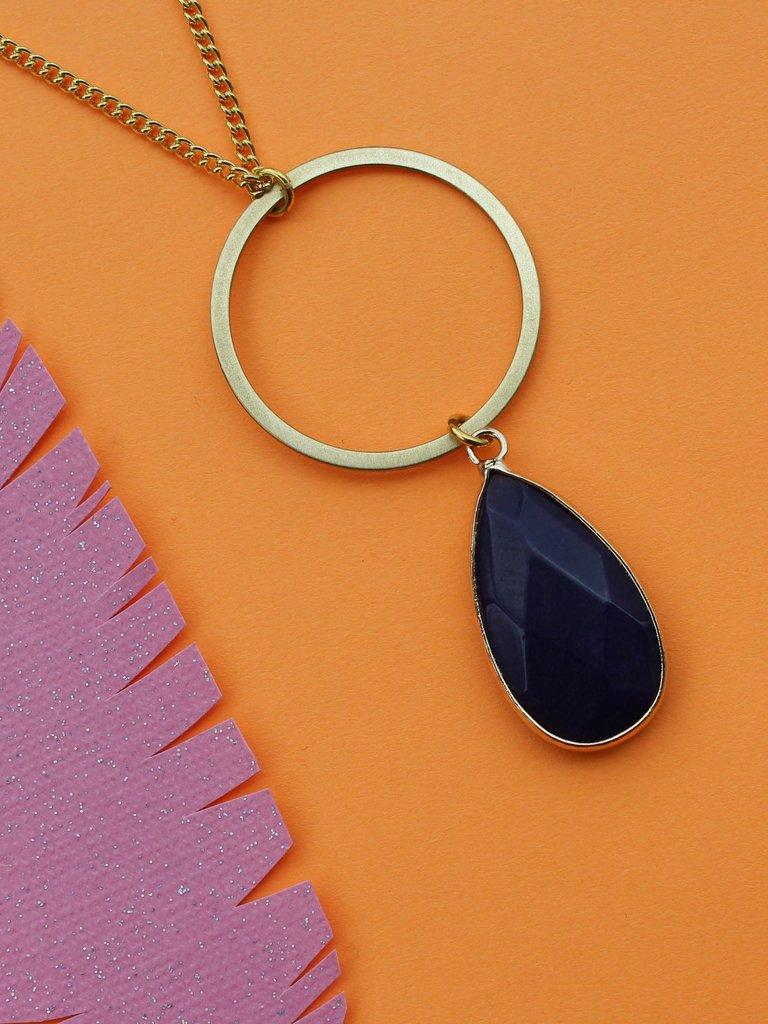 Nicole Weldon Lapis Ringer Necklace