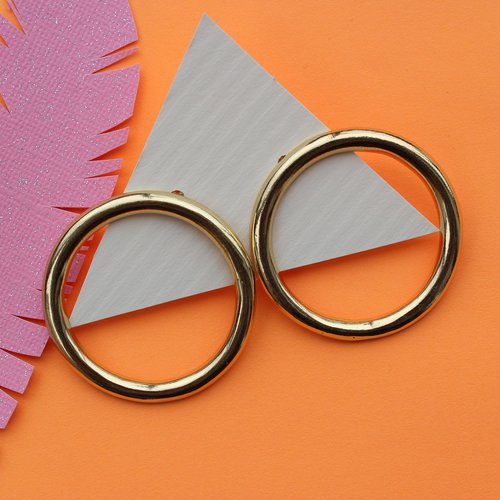 Ink & Alloy Ring Earring - Brass