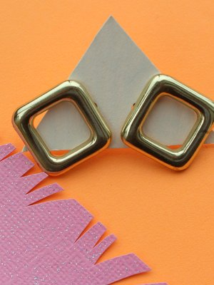 Ink & Alloy Square outline - Brass