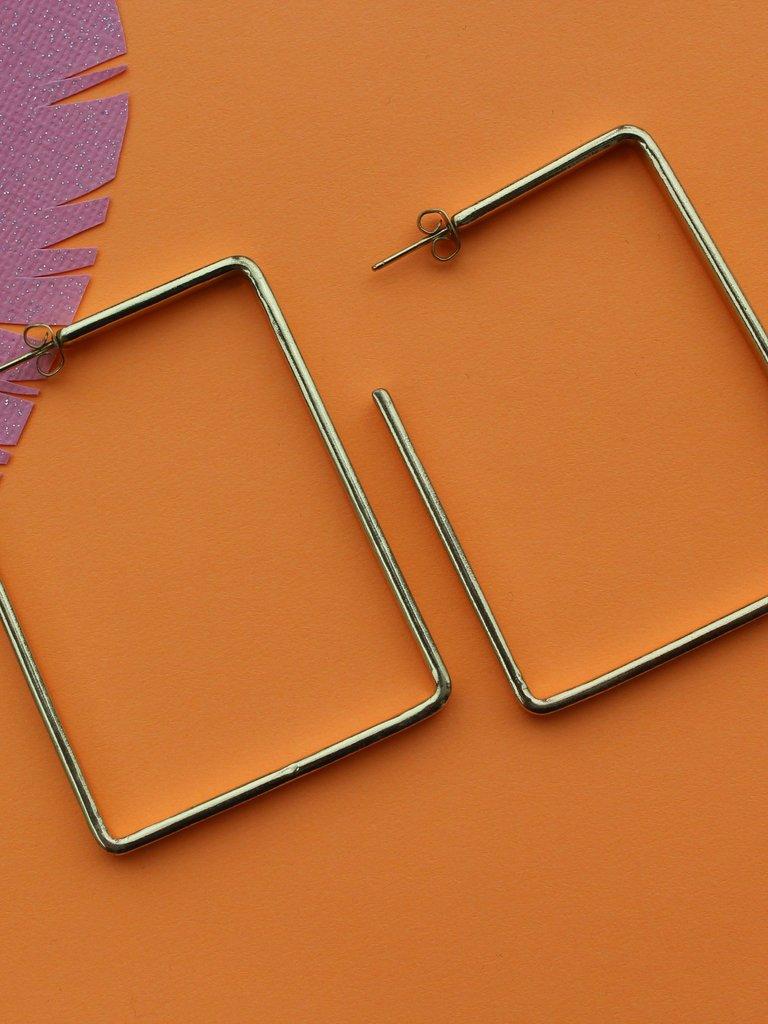 Ink & Alloy Rectangle Hoop - Brass
