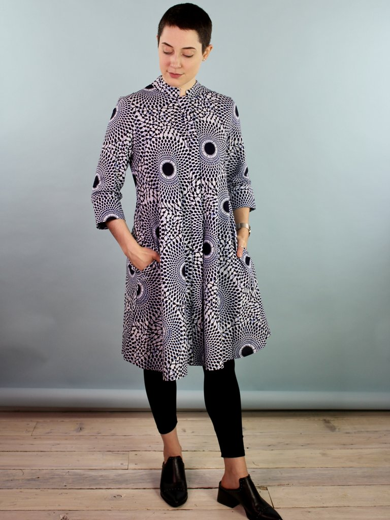 Zuri Shirt Dress -Waves