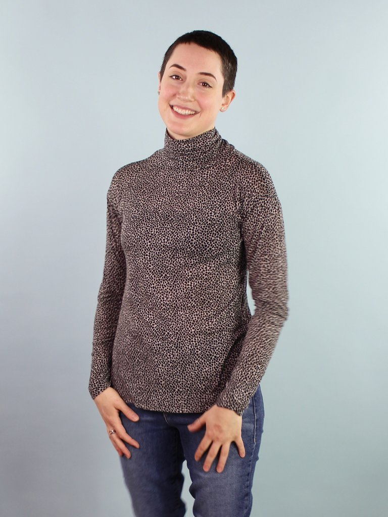 Sarah Bibb Tasha Turtleneck - Animal