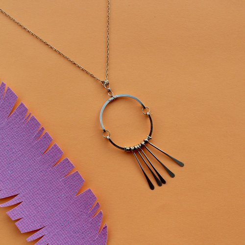 Amy Olson Circle Fringe Necklace