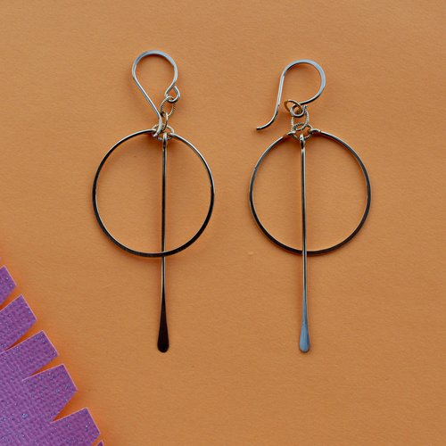 Amy Olson Circ Bar Earring - Gold Fill
