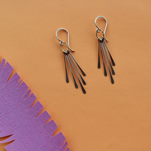 Amy Olson Sunray Earrings - Gold Fill