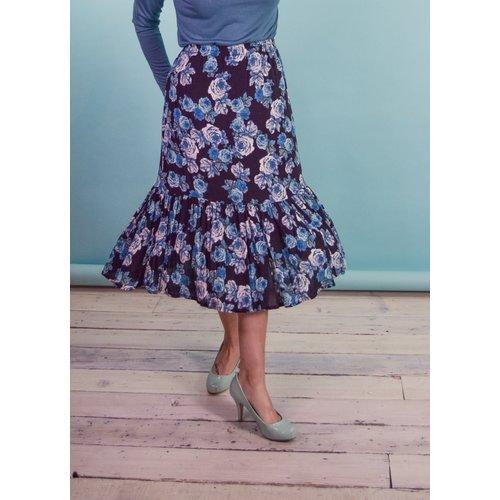 Sarah Bibb Moreau Skirt - Blue Roses