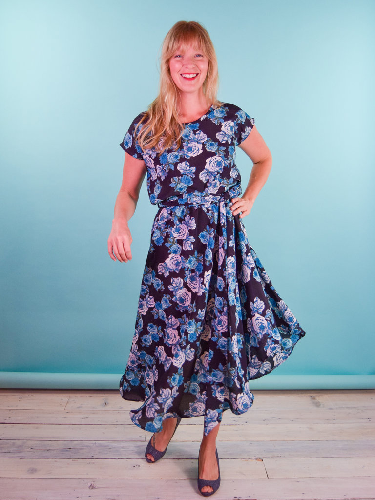 Sarah Bibb Nora Dress  - Blue Roses