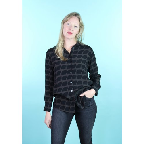 Bel Kazan Bris Blouse - Pebble