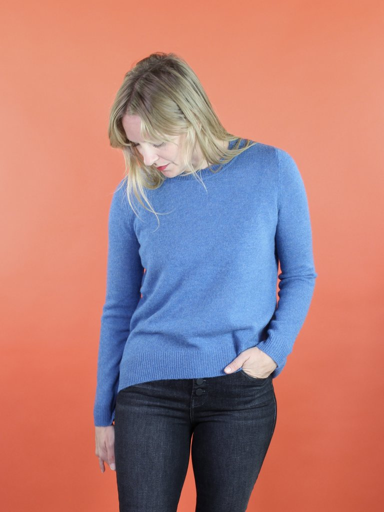 Oats Kena Cashmere Sweater - Sky
