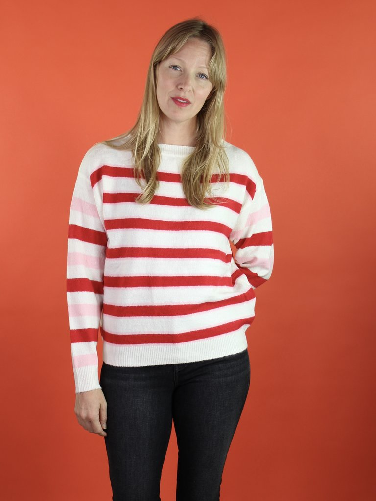 Frnch Nessa Sweater - Can Stripe