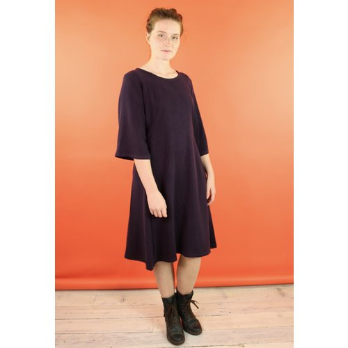 Sarah Bibb Mariah Dress - Aubergine