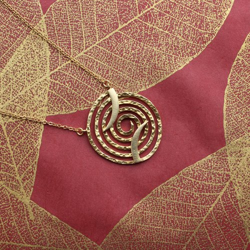 Nicole Weldon Spiral Necklace - Brass