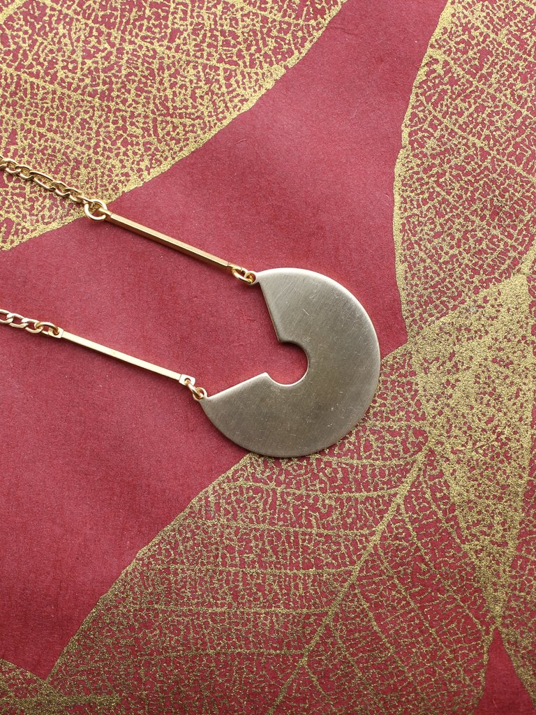 Nicole Weldon Paca Necklace - Brass