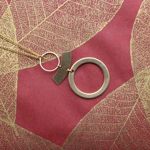 Nicole Weldon Balin Necklace - Brass