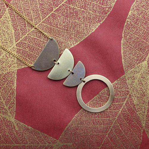 Nicole Weldon Traveler Necklace - Brass