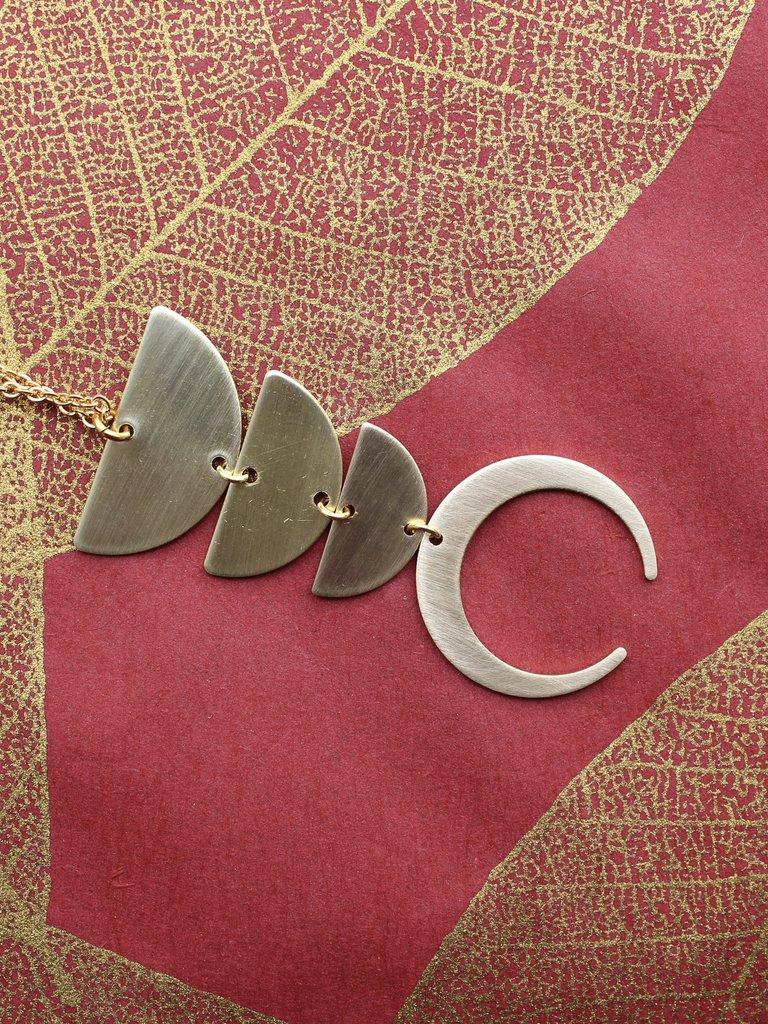 Nicole Weldon Trip Cee Necklace - Brass