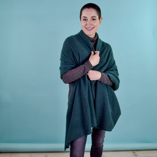 Oats Addy Cashmere Wrap - Pine