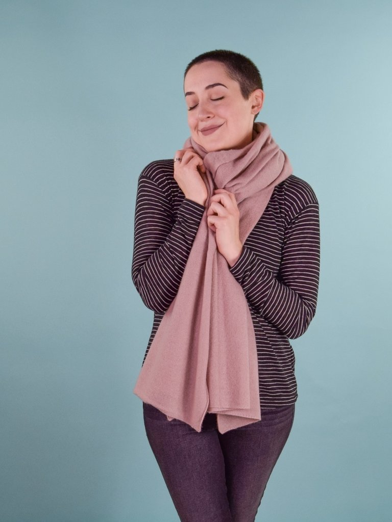 Oats Addy Cashmere Wrap - Blush