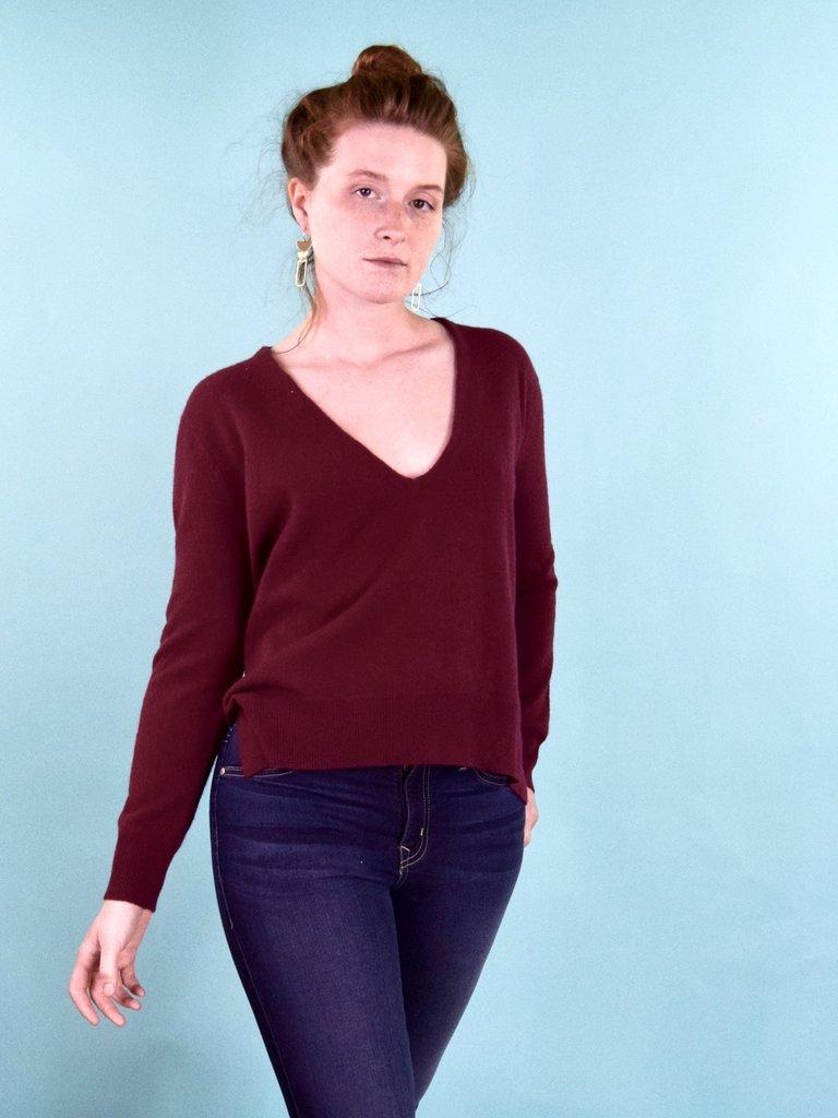 Oats Lapi Cashmere Sweater -Garnet