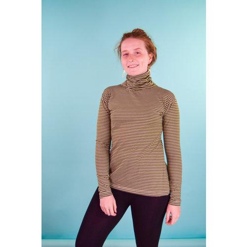 Sarah Bibb Tasha Turtleneck - Moss Stripe