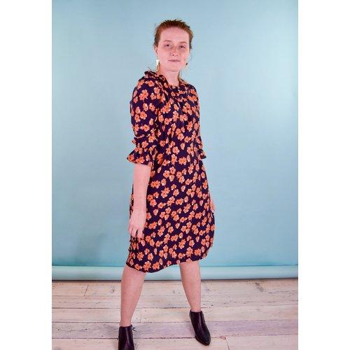 Cameo Ruff Neck Dress - Daphne