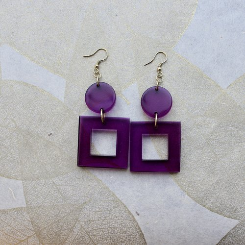 Ink & Alloy Lucite Square Dangle - Multi