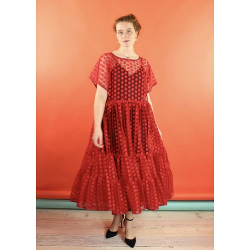 Sarah Bibb Super Abbie -Red Mesi Dot