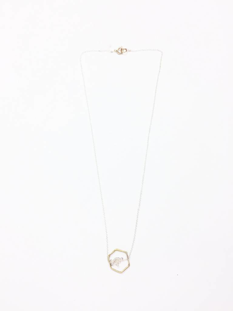 Kiersten Crowley Freya Hex Necklace - Multi