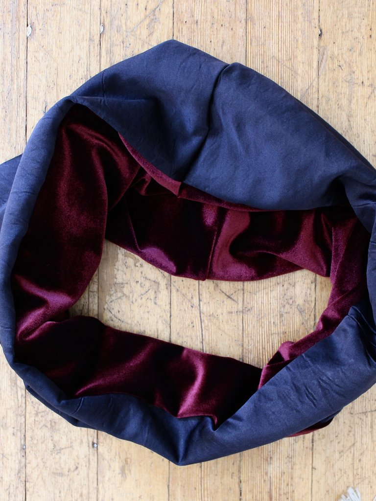 Sarah Bibb Single Loop Infinity Scarf - Ox Velvet / Midnight